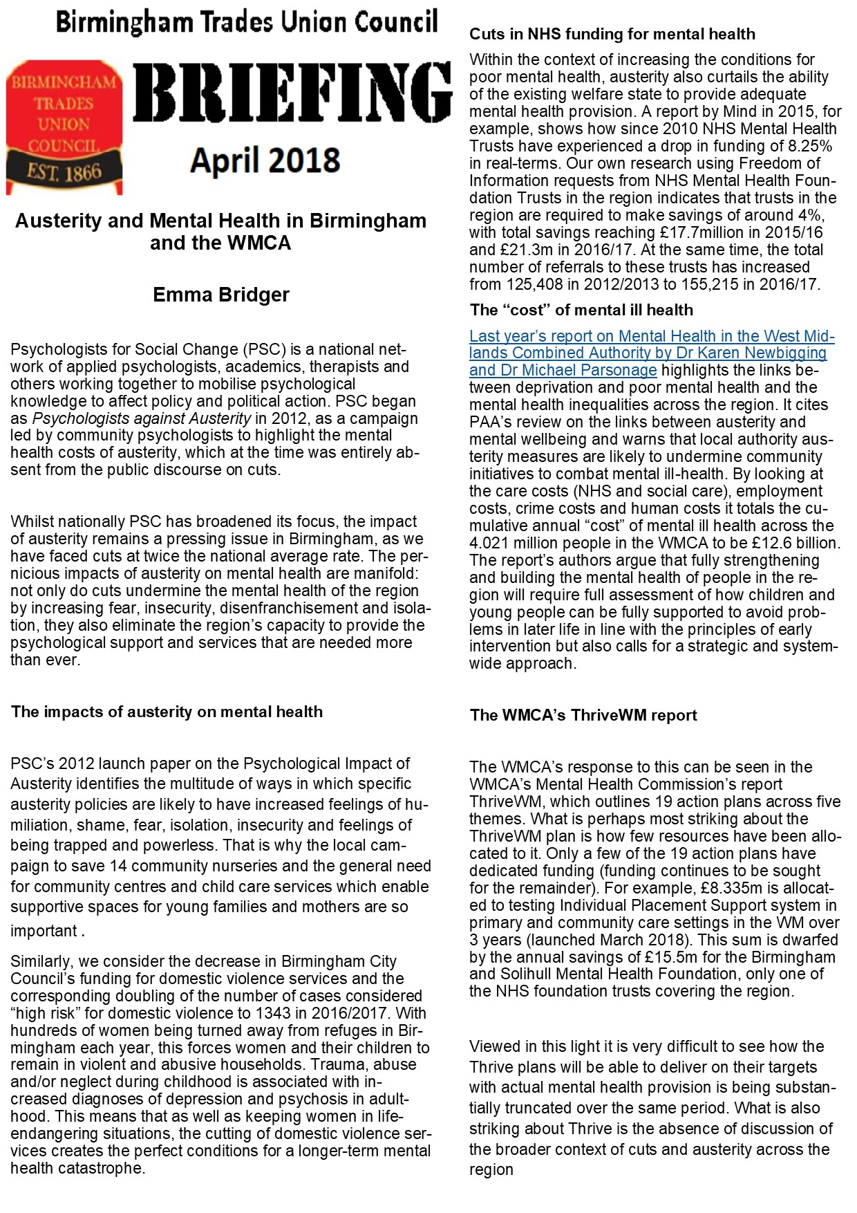 Archive For Category Briefing Btuc Newsletter